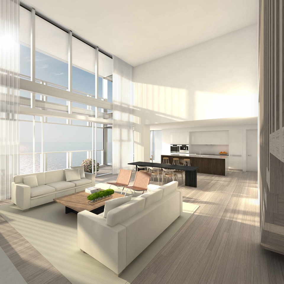 The Residences at Miami Edition: salotto