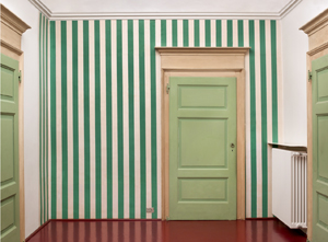 White-and-Green-Paper-Collage,-site-specific-Villa-Panza-Var