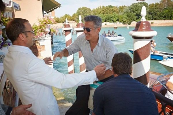 George Clooney arriva all'Hotel Cipriani