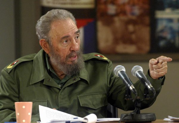 Fidel Castro speaks during the broadcasting of a TV programme 22 January, 2006 in Havana. Castro called the citizens to take part Tuesday in a massive rally to protest in front of the US government representation against the alleged liberation of anti-Castro Luis Posada Carriles. AFP PHOTO/AIN-Ismael FRANCISCO /AFP/Getty Images