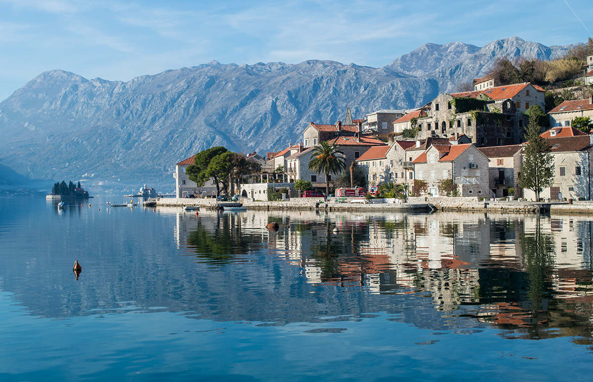 Small town Perast in boka bay, Montenegro