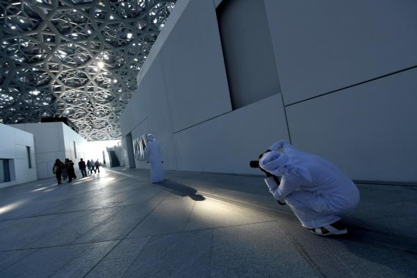Visitors in Louvre Abu Dhabi