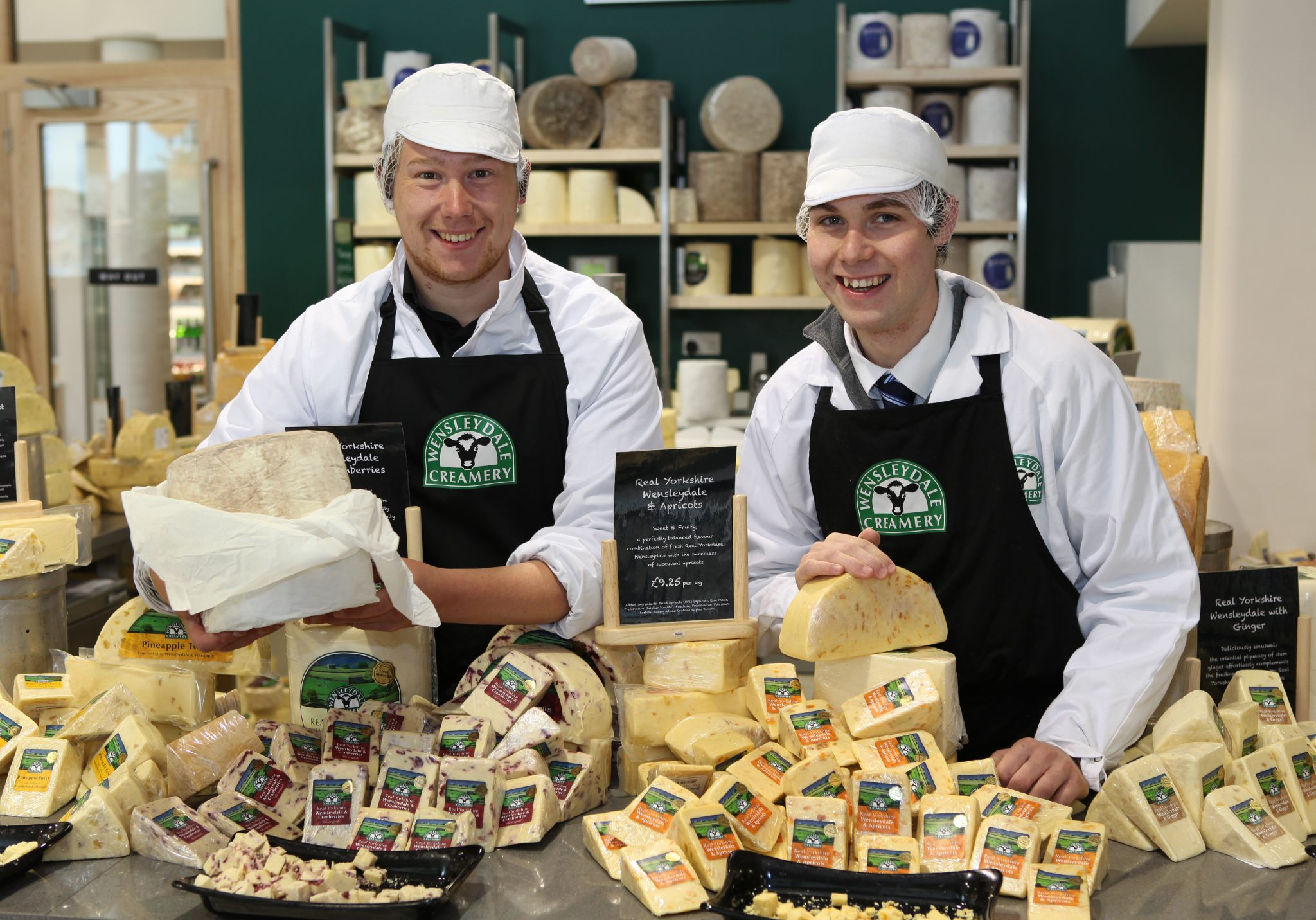 cheese-on-sale-at-wensleydale-creamery