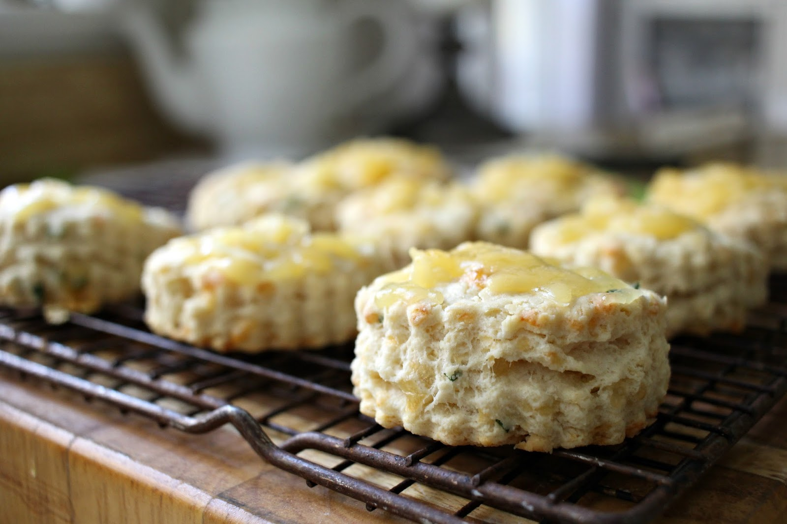 welsh caerphilly cheese scones chives