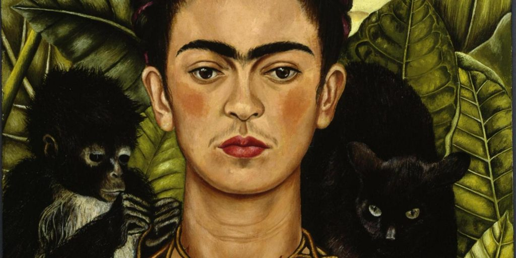 Frida Kahlo Autoritratto con collana di spine e colibrì, 1940 Olio su lamina metallica, cm 63,5 × 49,5 Nickolas Muray Collection Austin, University of Texas, Harry Ransom Center © Banco de México Diego Rivera & Frida Kahlo Museums Trust, México D.F. by SIAE 2014