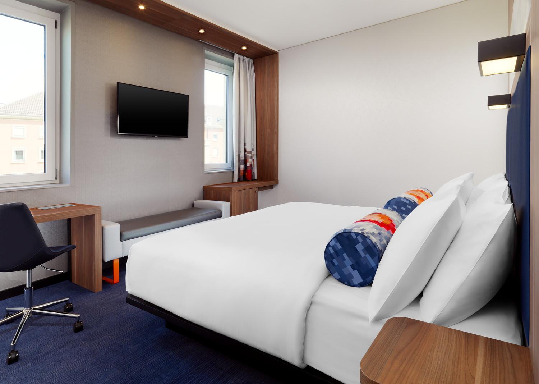 Una camera da letto standard