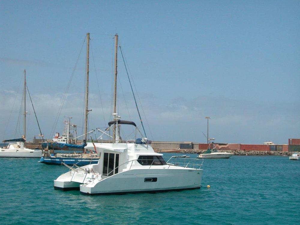 Il catamarano per le gite di whale watching