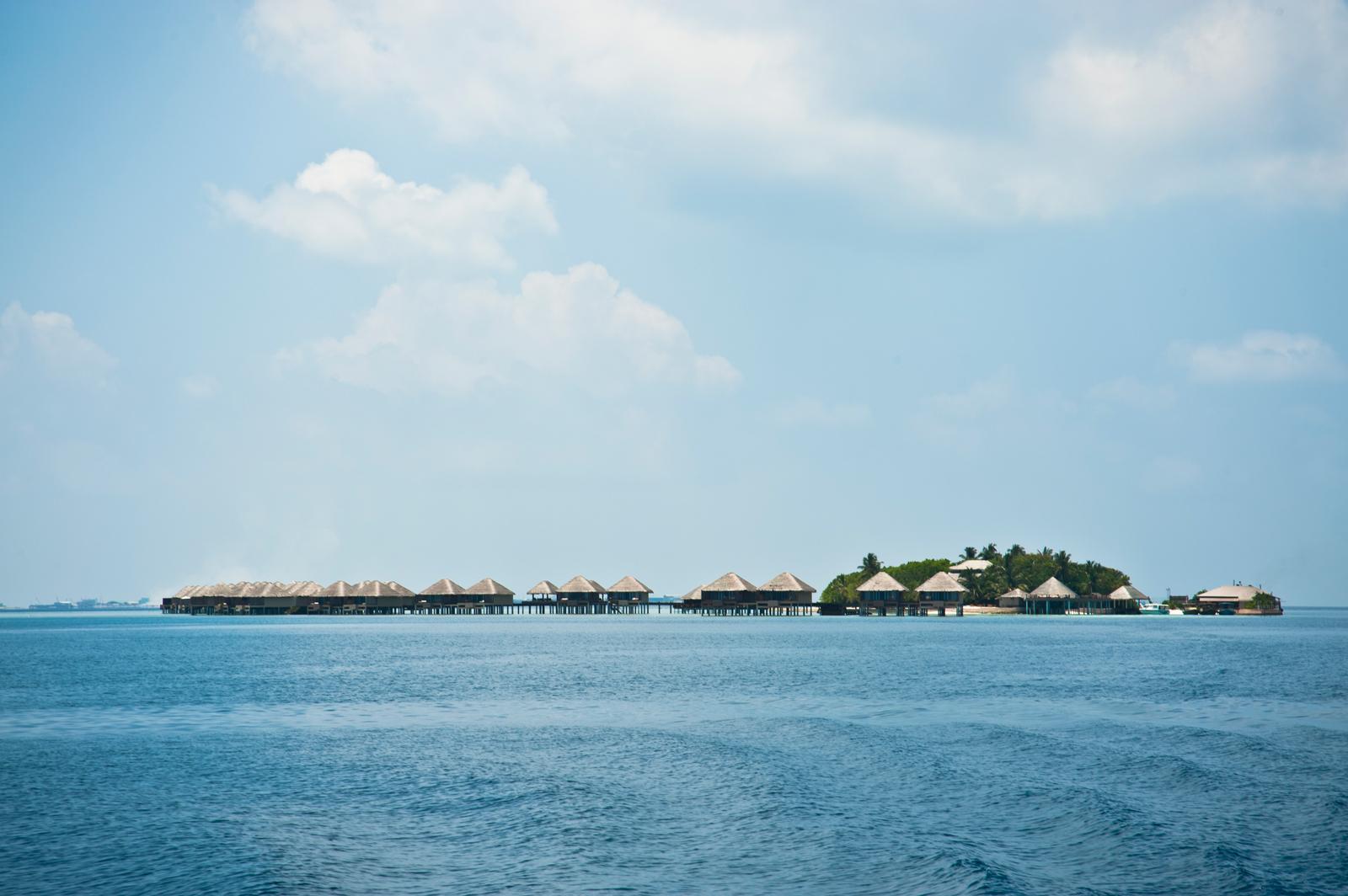 Villaggio al largo di Malè.