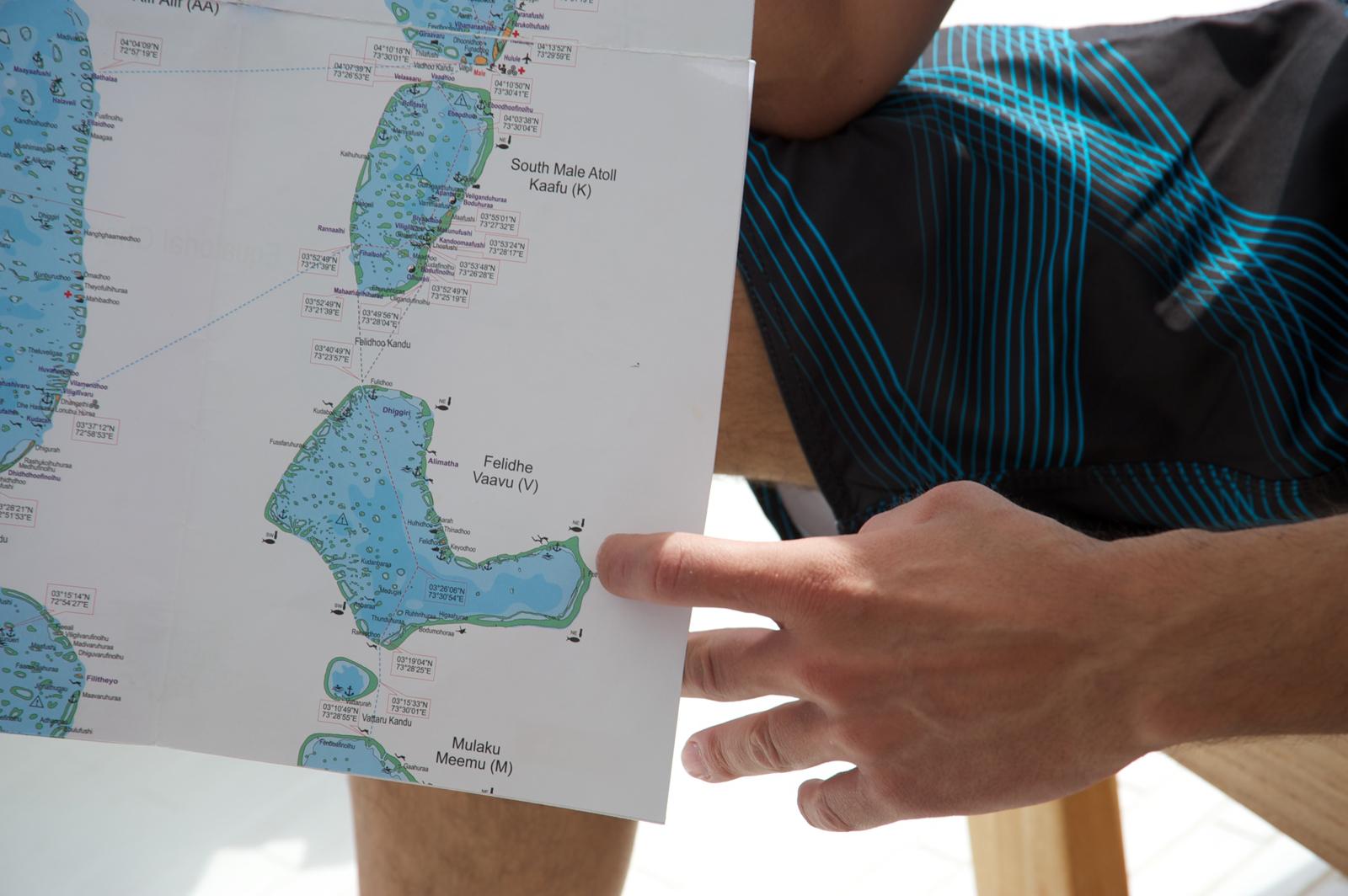 Cartina dell'Atollo di Felidhoo.