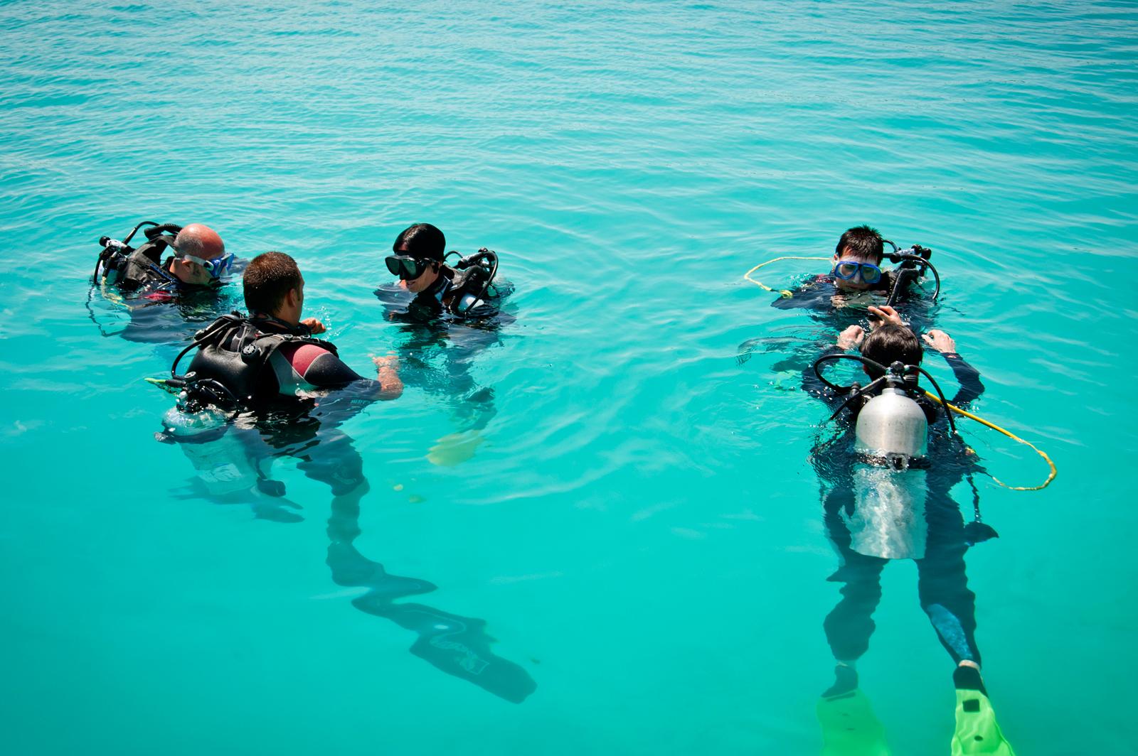 Scuola Padi, immersione.