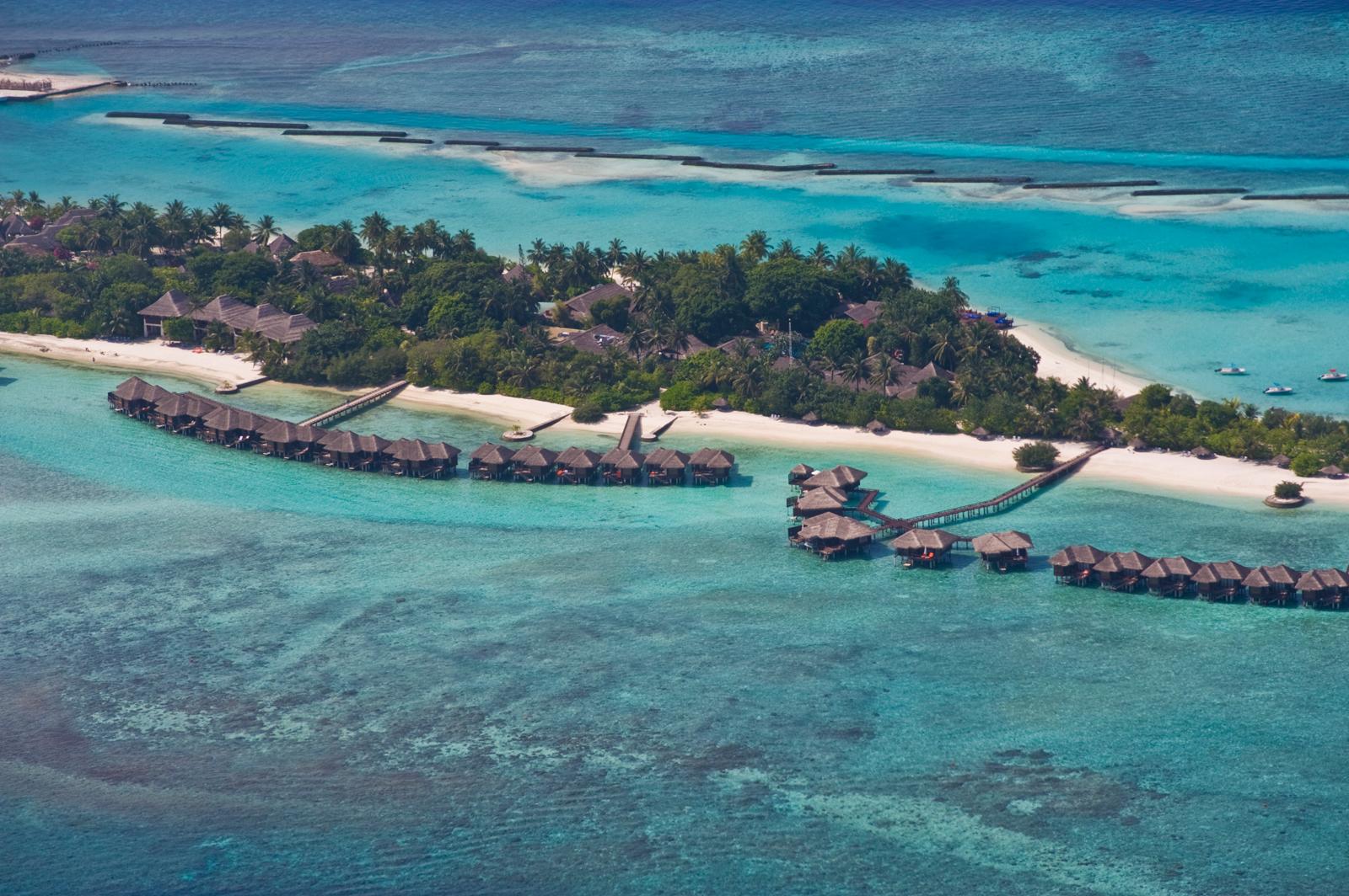 Villaggio a Malè, vista aerea.