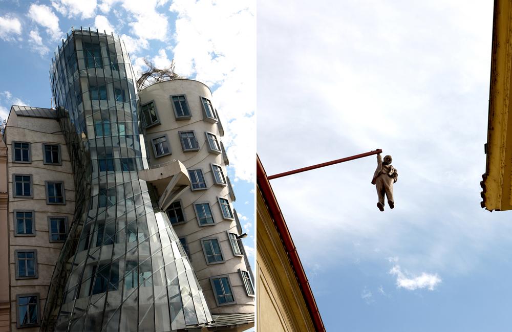 Rasing Building di Gehry e Hanging Man