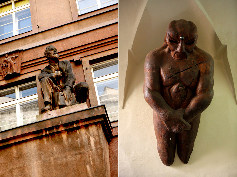 Statue e gargoyle