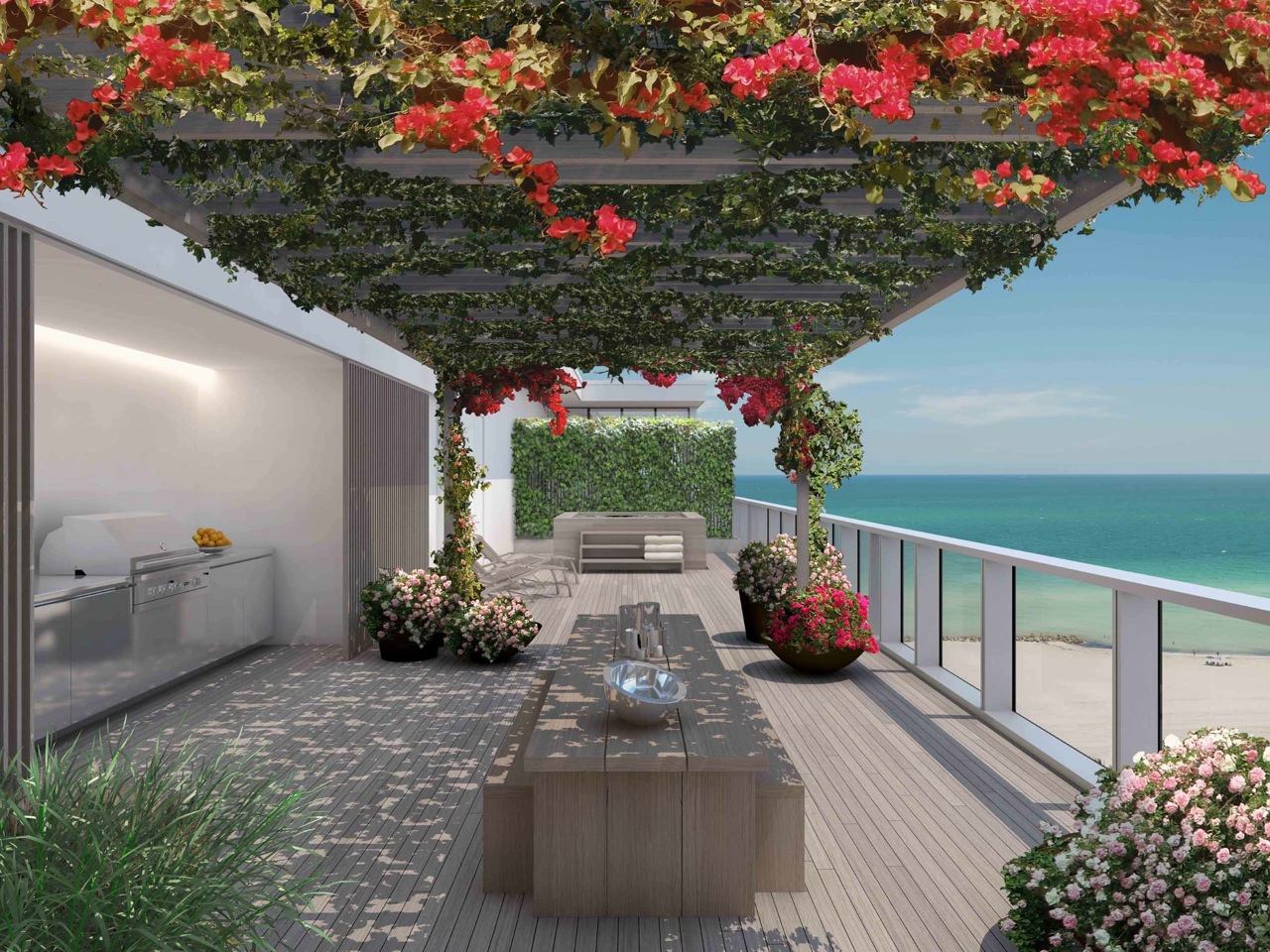 The Residences at Miami Edition: terrazza