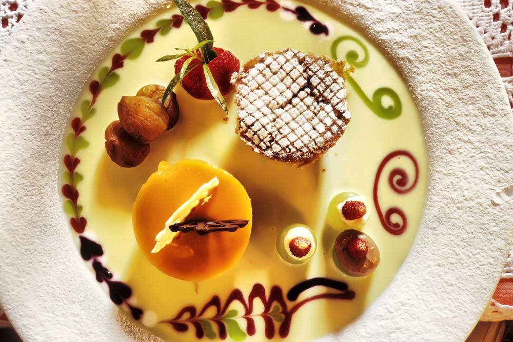Taverne, Ristorante Motto del Gallo, Dessert, Composizione autunno