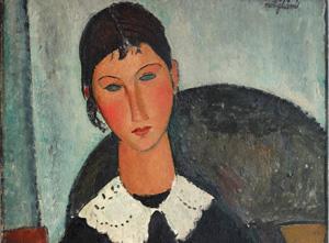 Amedeo-Modigliani-_Elvire-au--col-blanc-(-Elvire-‡-la-collerette-)_1917---1918-_particolare_olio-su-tela_92-x-65-cm
