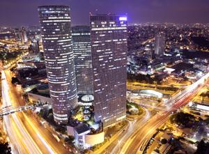 Night Cityscape Tel Aviv