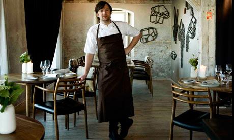 Ren Redzepi in Noma restaurant, which is top of the world's best 50 restaurants for the third year