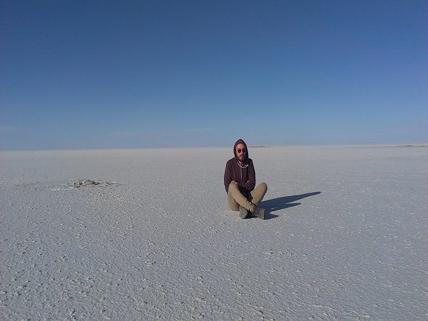 Andre nel Salar de Uyuni-Bolivia
