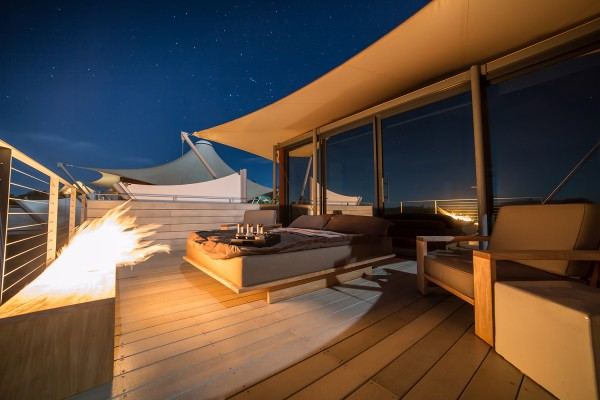 Longitude 131 reveals new balconies with luxury swags for sleeping under the stars