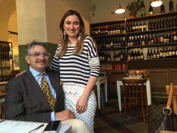 Roberta Capizzi con suo padre, grande sostenitore dell'impresa