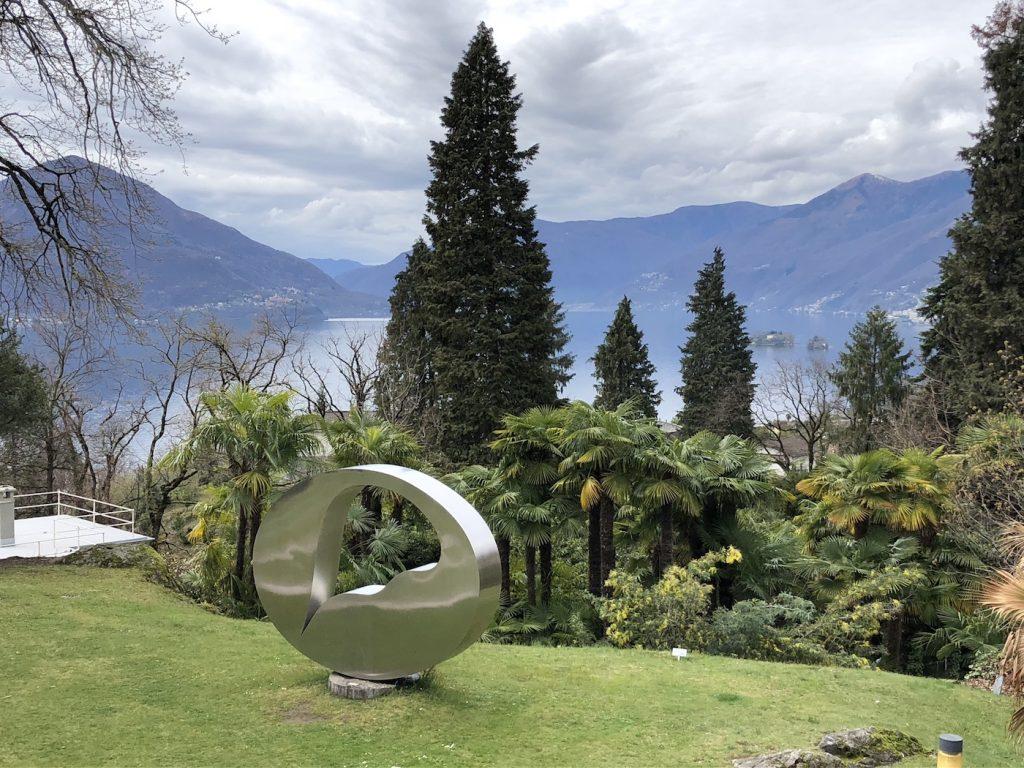 Uno scorcio de Lago Maggiore visto dal parco di Monte Verità, vicino ad Ascona