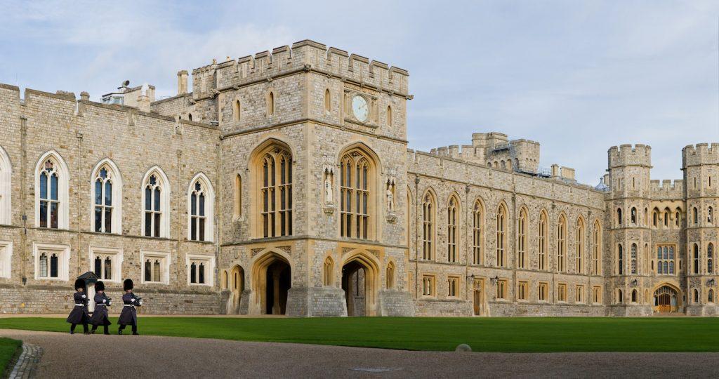 Il castello di Windsor dove il 19 maggio verrano celebrate le nozze tra il principe Harry e Meghan Markle