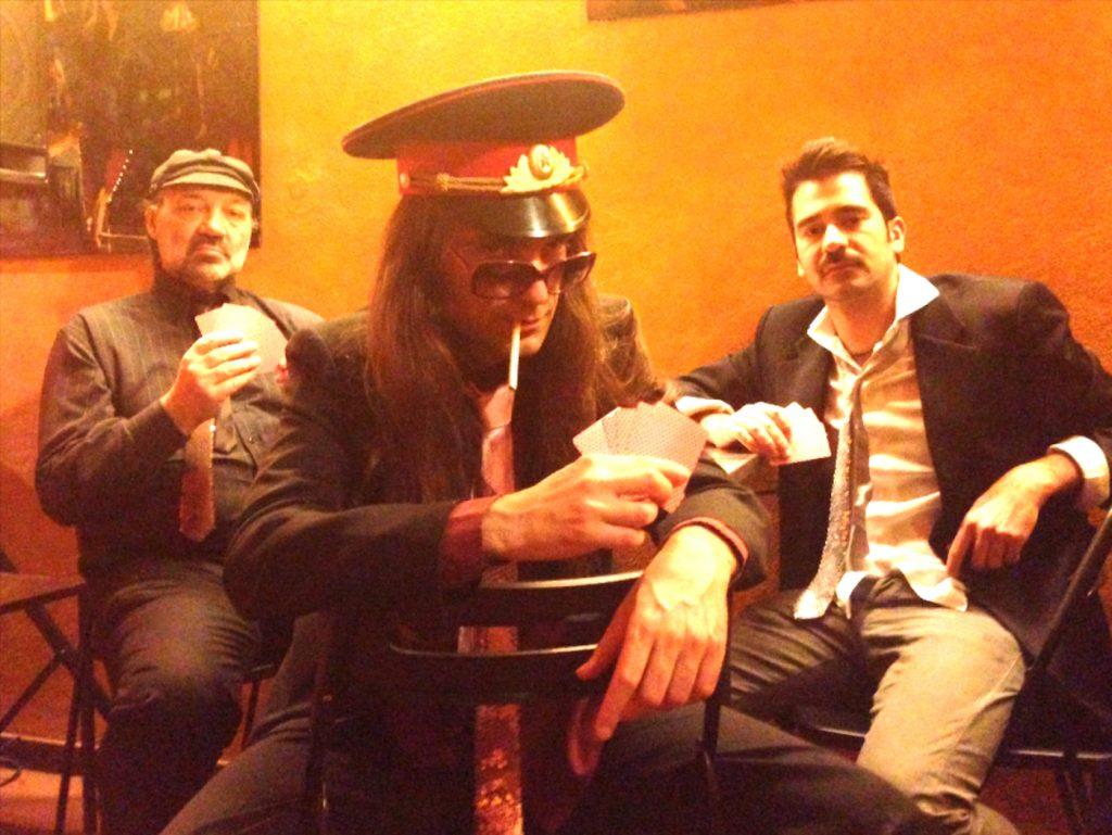 Da sinistra: il maestro Stefano Mora, Giovanni D'Avanzo e Stefano Tedesco