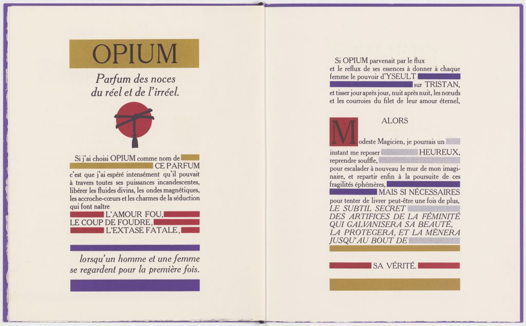 Dossier stampa del profumo Opium ©Yves Saint Laurent