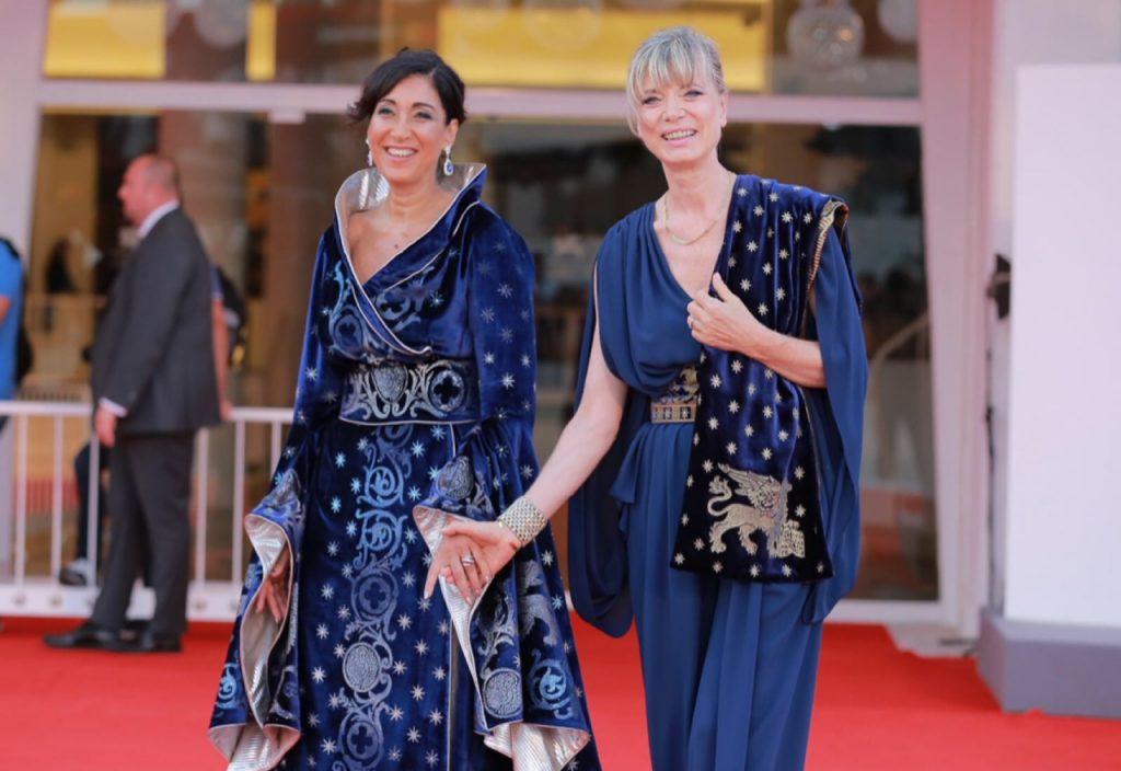 Mimma Posca, CEO Vranken Pommery, e la stilista Antonia Sautter