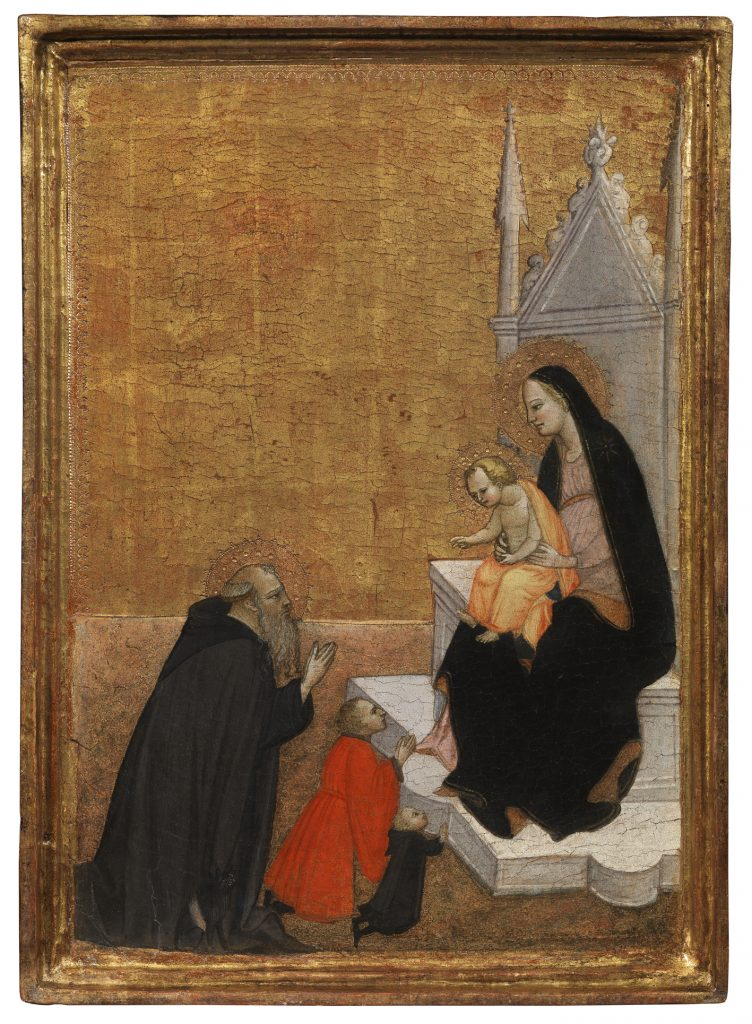 Madonna con bambino e Sant'Antonio Abate, autore Ventura Di Moro (1399-1486)