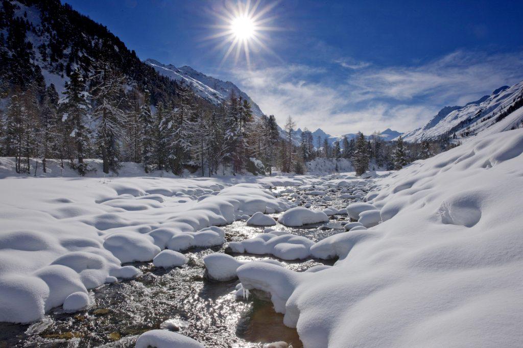 Engadina: paesaggio invernale in Val Roseg,  foto C. Sonderegger