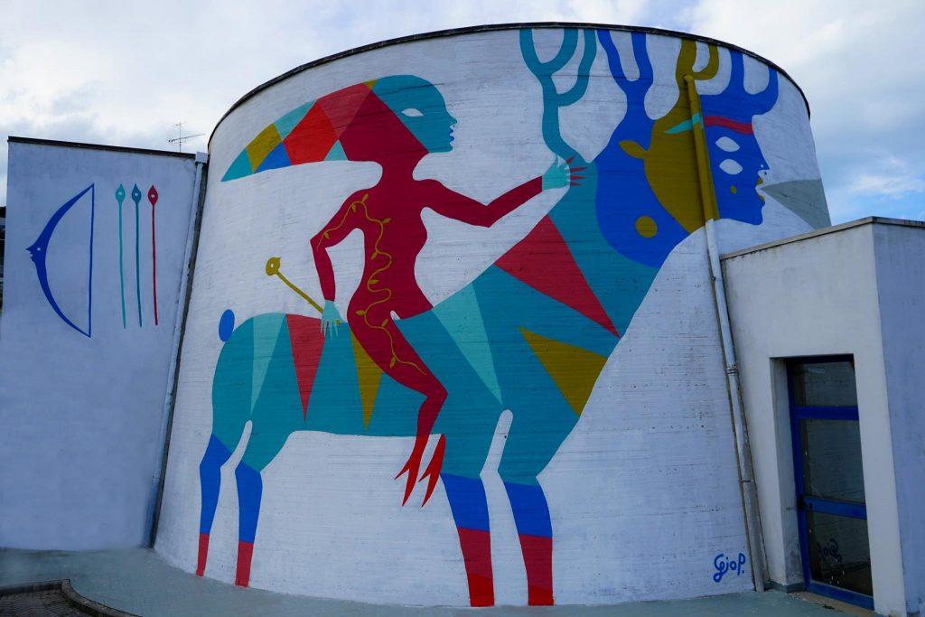 Il murale di Diana, opera di Gio Pistone a Livorno, ©Massimiliano Gionti/Inutile Comunicare