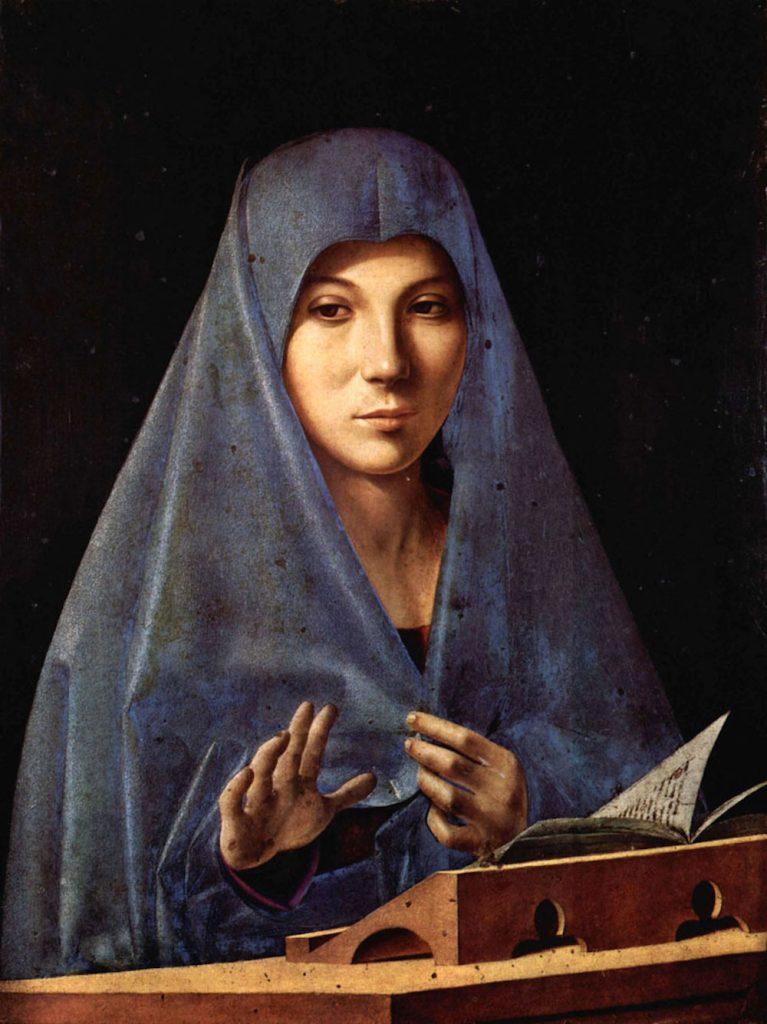 Annunciata (1475-1476), Palermo, Galleria regionale di Palazzo Abatellis