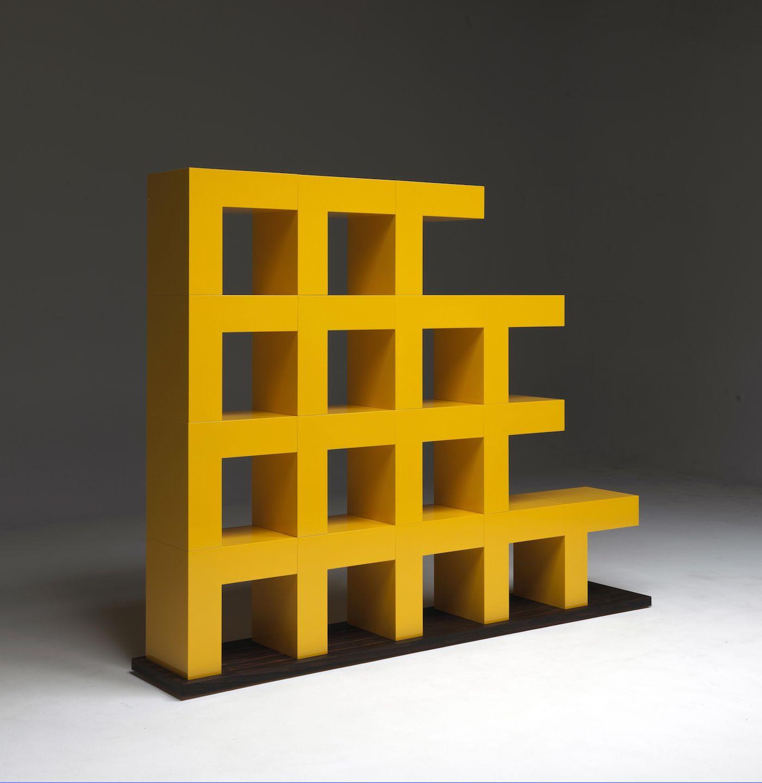 Ellissima, libreria modulare progettata da Aldo Cibic