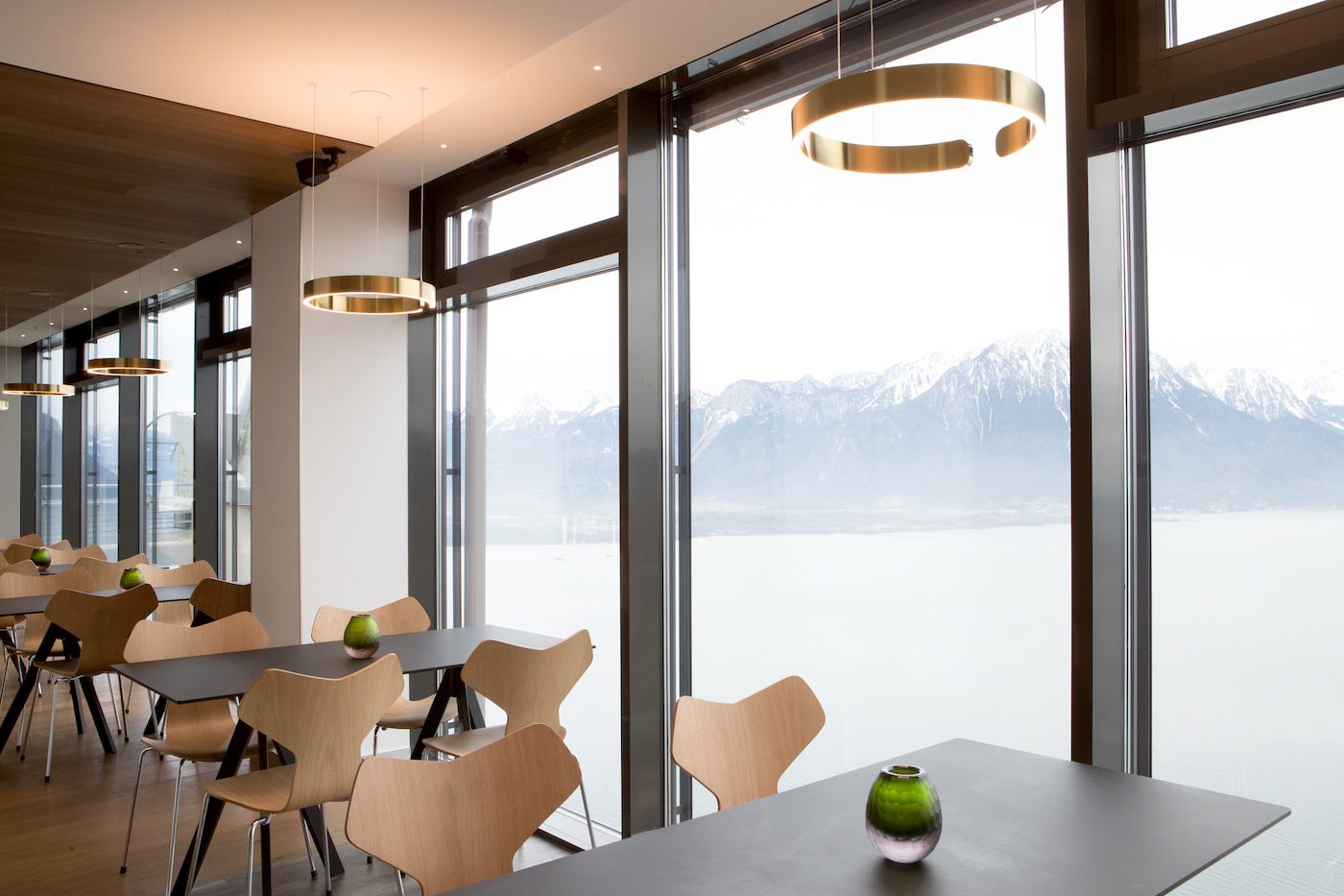 Lo Skyline bar all'interno del campus di Glion