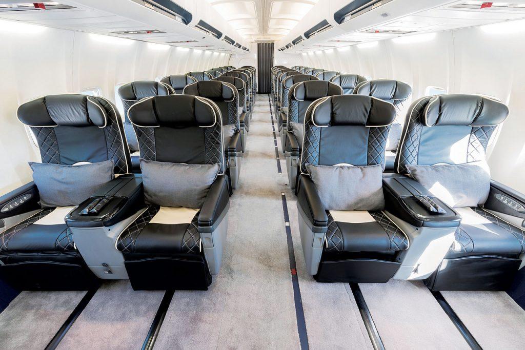 Allestimento business sul Boeing Air Cruise in esclusiva per Gattinoni