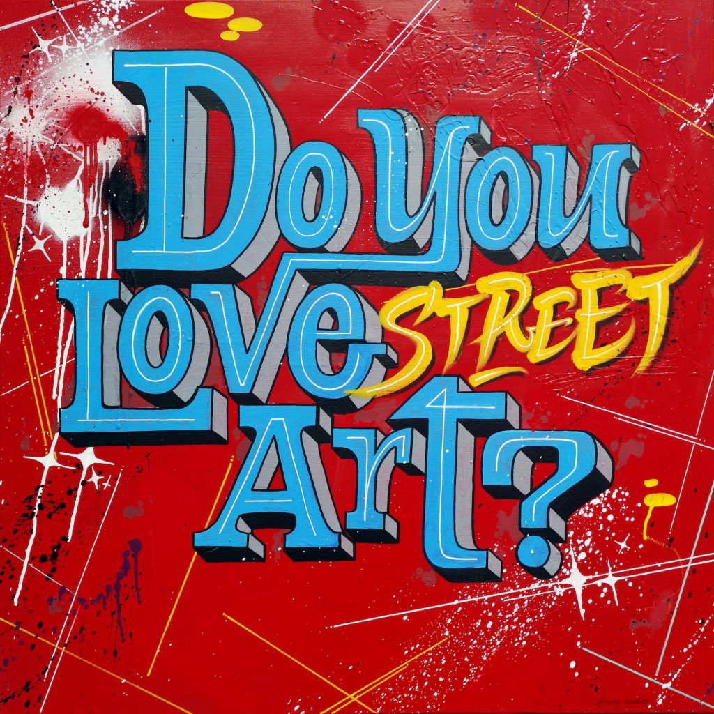 Il logo di Do you love street art?, creato ad hoc dagli street artist Bonora Brothers