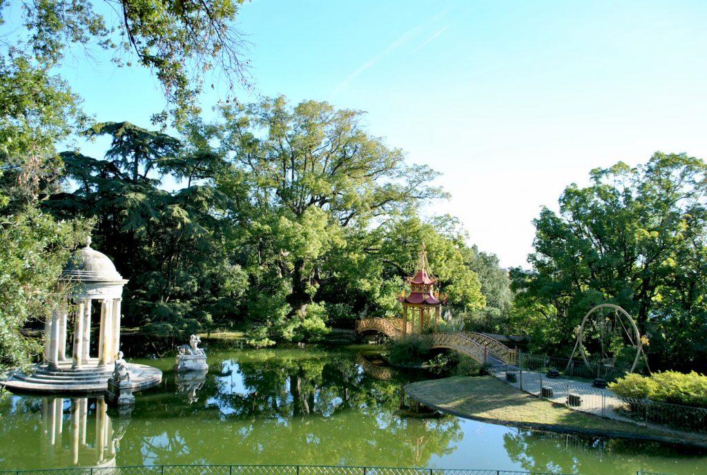 Il Lago Grande nel parco di Villa Durazzo Pallavicini - foto Gaia Peverati