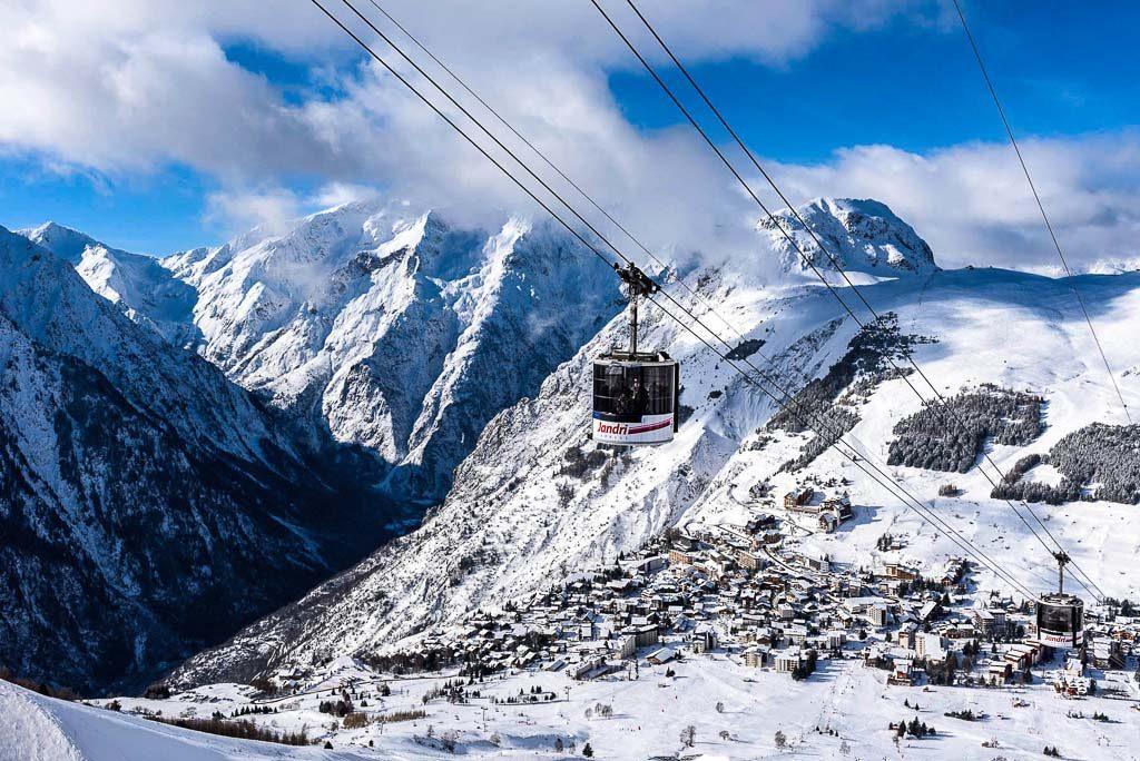 "Francia- Rhone Alpes-Isère. Les 2 alpes -Pista blu ""Jandri 1"""