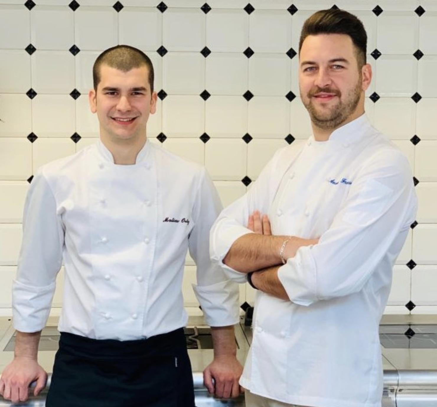 MatiasOrtiz e Anatolij Franzese, rispettivamente chef e pasticciere del bar e ristorante Teatro alla Scala Il Foyer