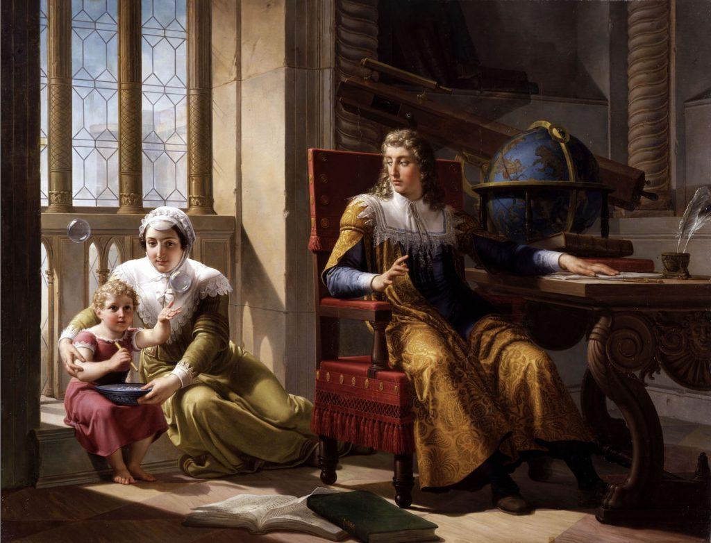 """""""Newton scopre la teoria della rifrazione della luce"""" di Pelagio Pelagi (1827)"""
