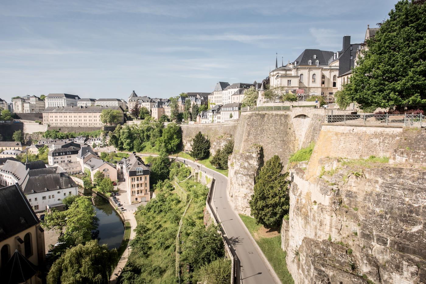 Panorama del Grund dalle Casematte del Bock - foto Jonathan Godin/LFT