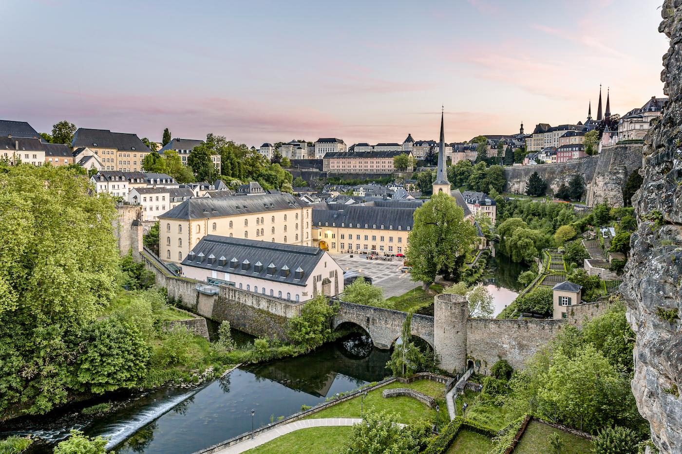 Panorama della parte bassa di Lussemburgo