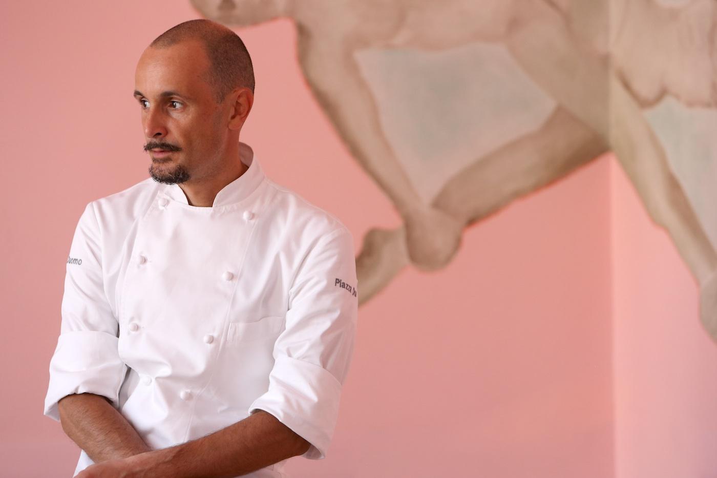Lo chef tristellato Enrico Crippa - foto Marchesi