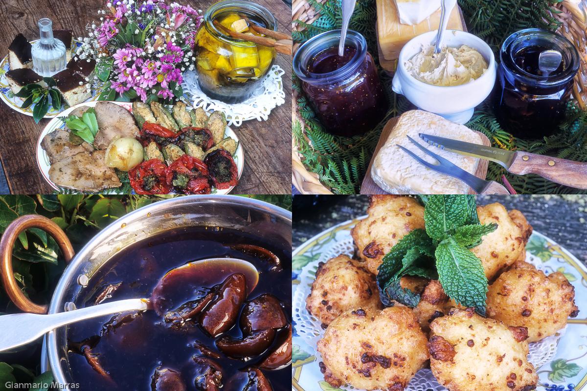 La Ferme di Campodimonte - Carne e verdure - Formaggi - Confettura di clementini- Frittelline