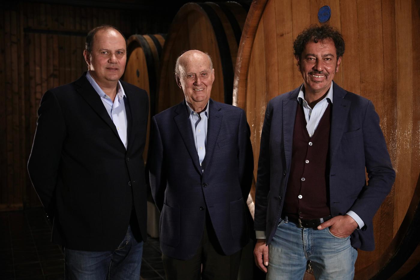 Da sinistra: Stefano, Michele e Alberto Chiarlo