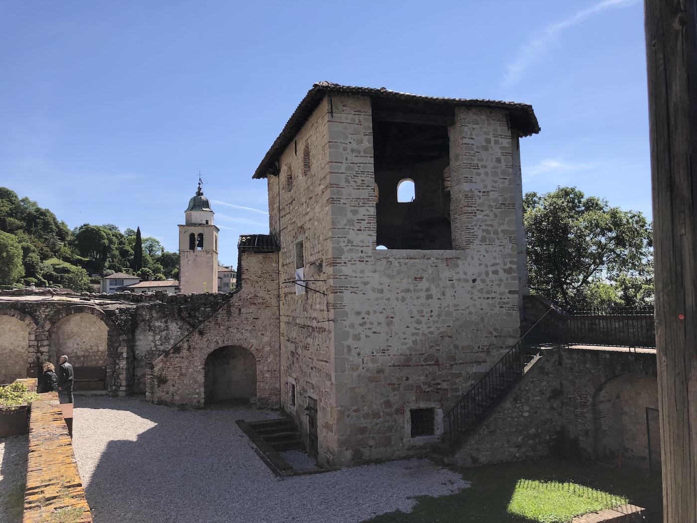 Uno scorcio di Asolo dal Castello, che fu reggia di Caterina Cornaro