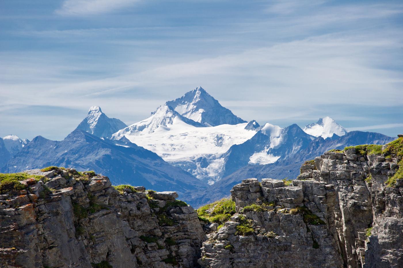Una suggestiva veduta del Weisshorn (4.505 metri) ripreso dal ghiacciaio della Plaine Morte - foto Crans-Montana Tourisme & Congrès/Olivier Maire
