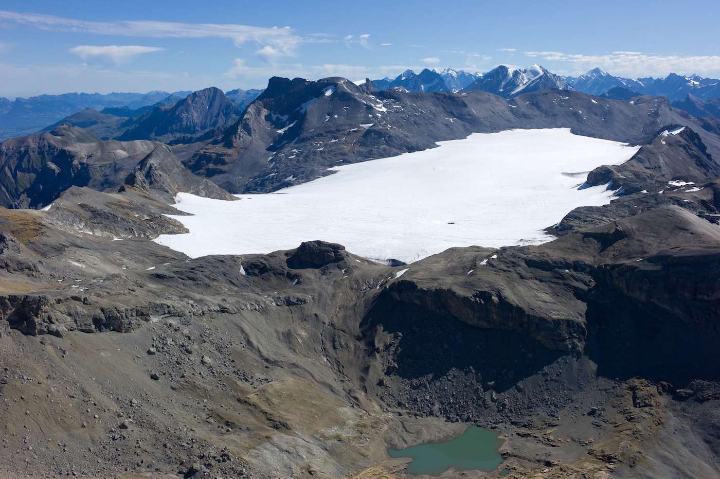 Il ghiacciaio della Plaine Morte - foto Crans-Montana Tourisme & Congrès/Olivier Maire